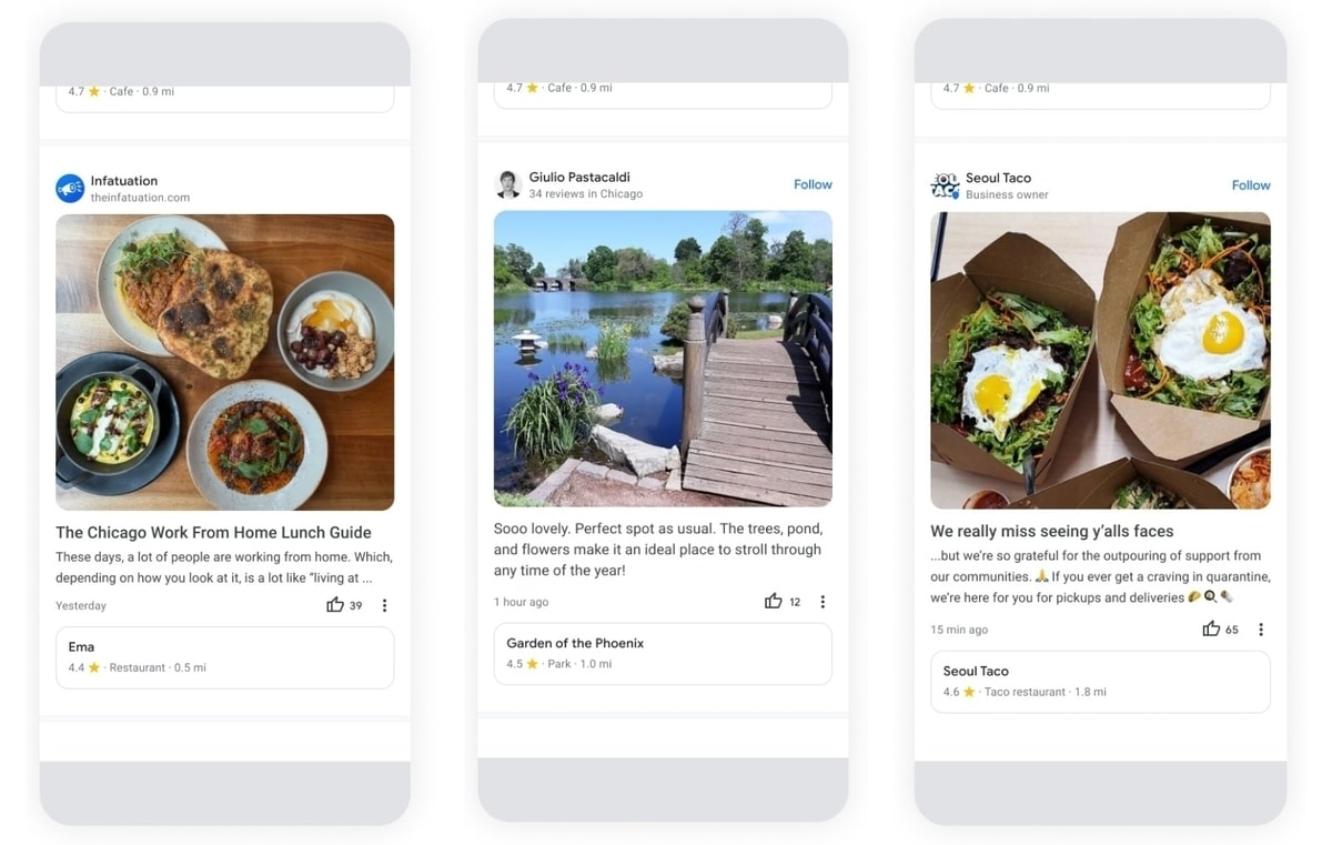 Google maps adds community news feed