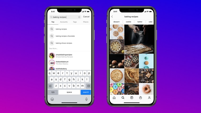 Instagram now allows you to search for a key-word